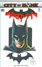 Batman_75_signed and remarked with a Thomas Wayne Batman head sketch by Ken Haeser