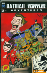 Batman_Teenage Mutant Ninja Turtles Adventures_2_Dynamic Forces Exclusive Variant Cover_signed and remarked by Ken Haeser