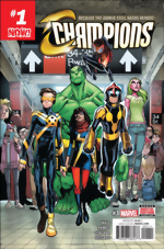 Champions_1_Humberto Ramos Cover_signed by Mark Waid