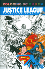 Coloring DC_Justice League_An Adult Coloring Book