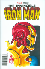 Invincible Iron Man (2017)_600_Blank Sketch Wraparound Cover_signed and remarked by Ken Haeser
